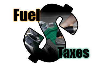 Fuel Taxes Dollar Sign