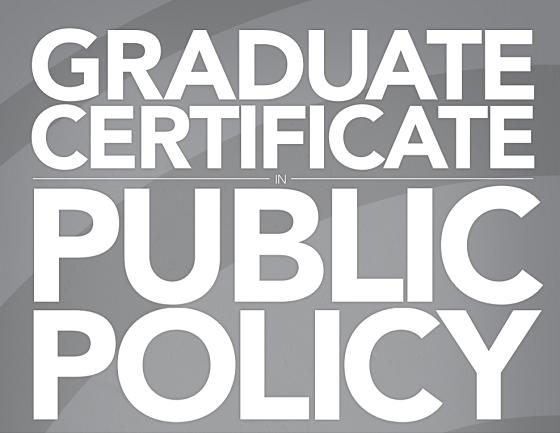 Graduate certificate in public Policy