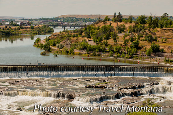Great Falls Montana, photo courtesy Travel Montana.