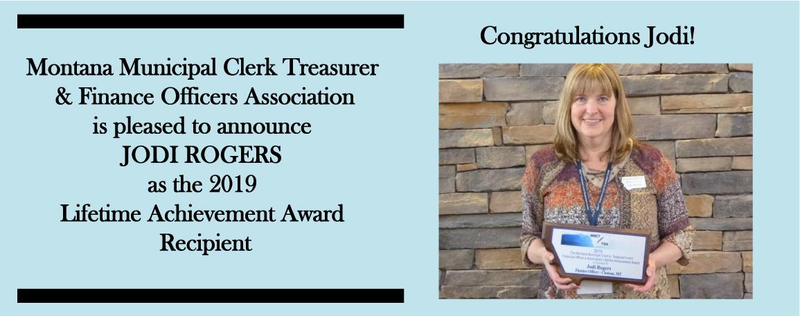 Jodi Rogers, Liftime Achievement Award winner