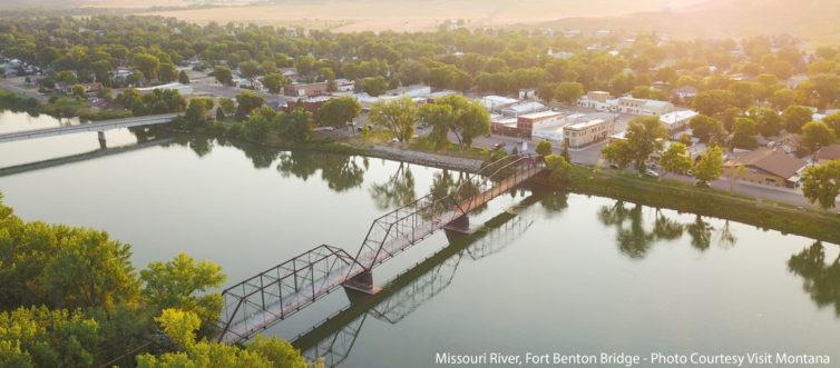 Missouri River, Fort Benton Bridge - Photo Courtesy Visit Montana